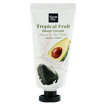 Крем для рук с авокадо и маслом ши – FarmStay Tropical Fruit Hand Cream Avocado & Shea Butter 50ml
