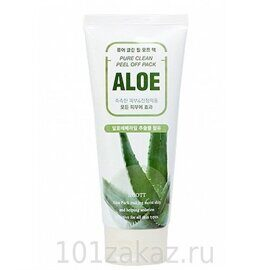 Маска-плёнка для лица «Алоэ» – Jigott Aloe Pure Clean Peel Off Pack 180ml