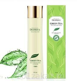 Deoproce Premium Green Tea Total Solution Toner тоник для лица с экстрактом зеленого чая, 150 мл