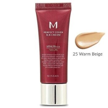 ББ крем тональный — Missha M Perfect Cover BB Cream №25 Warm Beige SPF42 PA+++ 20ml