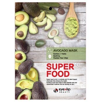 Тканевая маска для лица «Авокадо» — Eyenlip Super Food Avocado Mask