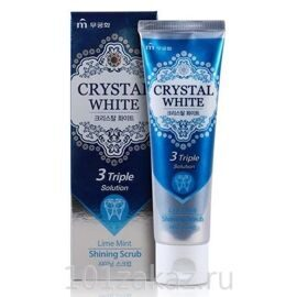 Mukunghwa Crystal White Lime Mint Toothpaste отбеливающая зубная паста с ароматом лайма и мяты, 110 г