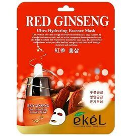 Тканевая маска с красным женьшенем – Ekel Red Ginseng Ultra Hydrating Essence Mask
