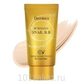 ББ крем восстанавливающий с улиткой. Deoproce Intensive Snail BB SPF50+ PA+++ #21 50ml