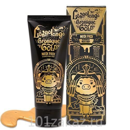 Elizavecca Маска-пленка золотая / Hell-Pore Longolongo Gronique Gold Mask Pack 100ml