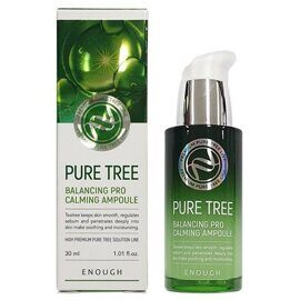 Сыворотка с чайным деревом – Enough Pure Tree Balancing Pro Calming Ampoule 30ml