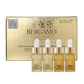 Bergamo Сыворотка с золотом и икрой / Luxury Gold Caviar Wrinkle Care Intense Repair Ampoule 4 pcs