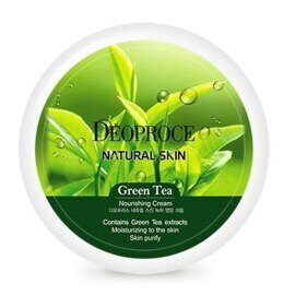 Крем для лица и тела «Зелёный чай» – Deoproce Natural Skin Green Tea Nourishing Cream 100g