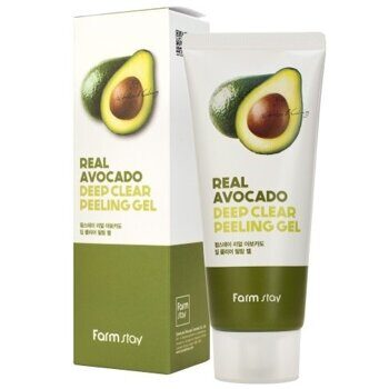 Пилинг-гель с экстрактом авокадо – FarmStay Real Avocado Deep Clear Peeling Gel 100ml