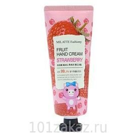 Крем для рук «Клубника» Milatte Fashiony Fruit Hand Cream Strawberry
