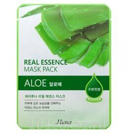 Juno Real Essence Mask Pack Aloe маска для лица с экстрактом алоэ, 1 шт