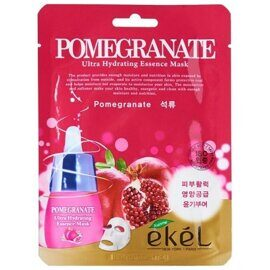 Тканевая маска с экстрактом граната – Ekel Pomegranate Ultra Hydrating Essence Mask