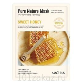 Тканевая маска для лица «Мёд». Secriss Pure Nature Mask Sweet Honey.