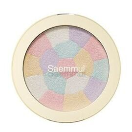 Мульти хайлайтер минеральный. The Saem Saemmul Luminous Multi Highlighter 01 Pink White.