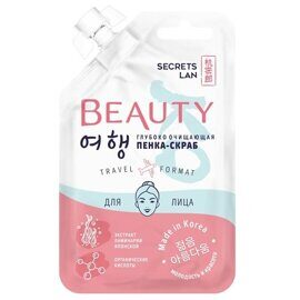 Глубоко очищающая пенка-скраб для лица Secrets Lan Beauty.Ko