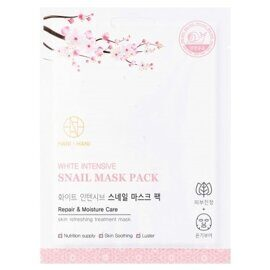 Тканевая маска c муцином улитки. Hani x Hani White Intensive Snail Mask Pack.