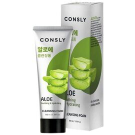 Пенка для умывания c алоэ – Consly Aloe Vera Soothing Creamy Cleansing Foam 100ml