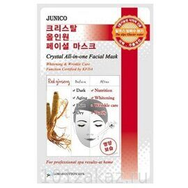 Маска тканевая с красным женьшенем Mijin Junico Crystal All-in-one Facial Mask Red Ginseng